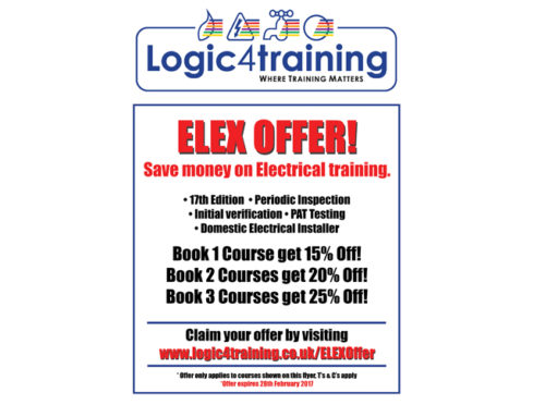 Logic4training offers savings on courses at Elexshow