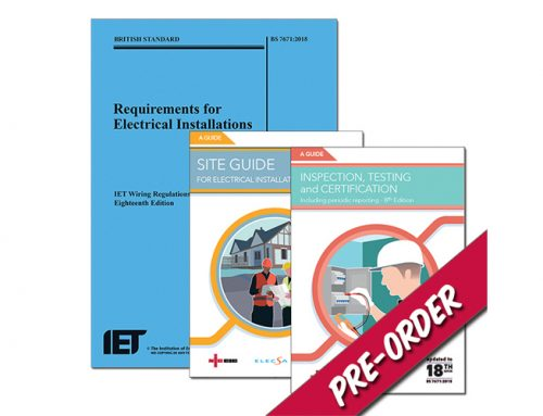 Save up to 20% on the new 18th Edition IET Wiring Regulation Publication and Site Guide on the NICEIC Stand at EventCity